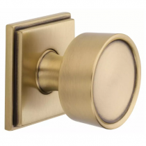 Baldwin Estate K007 Door Knob Set shown in satin brass & brown