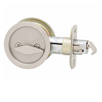 Kwikset Round Privacy Pocket Door Lock Satin Nickel (15)