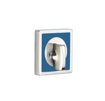 Emtek L8569 Martinique Single Sided Deadbolt with Caribbean Blue Insert