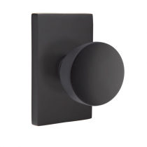Emtek Urban Modern Laurent Knob Set with Modern Rectangular Rosette