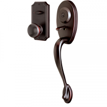 Weslock Lexington 1400 Handleset with Impresa knob Oil Rubbed Bronze