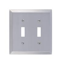 Brass Accents M02-S2530-619 Classic Steps Double Switch Plate