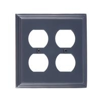 Brass Accents M02-S2560-613VB Classic Steps Double Outlet Plate