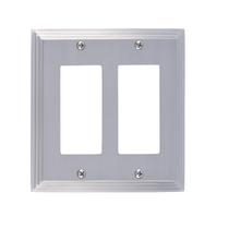 Brass Accents M02-S2570-619 Classic Steps Double GFCI Switch Plate