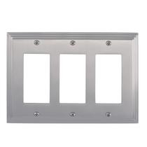 Brass Accents M02-S2590-619 Classic Steps Triple GFCI Switch Plate