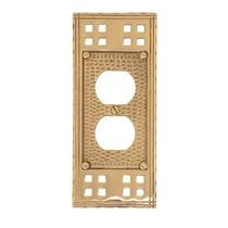 Brass Accents M05-S5610 Arts and Crafts Single Outlet Plate