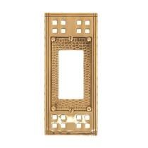 Brass Accents M05-S5620 Arts and Crafts Single GFCI Switch Plate