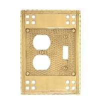 Brass Accents M05-S5640 Arts and Crafts Combo - SingleSwitch/Single Outlet Plate