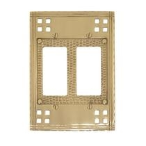Brass Accents M05-S5670 Arts and Crafts Double GFCI Switch Plate