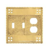 Brass Accents M05-S5680 Arts and Crafts Triple - Double Switch/Single Outlet Pla