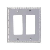Brass Accents M05-S7570-619 Egg & Dart Double GFCI Switch Plate