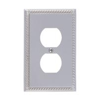 Brass Accents M06-S8510-619 Georgian Single Outlet Plate