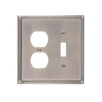 Brass Accents M06-S8540-609 Georgian -Single Switch and Single Outlet Plate