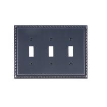 Brass Accents M06-S8550-613VB Georgian Triple Switch Plate