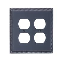 Brass Accents M06-S8560-613VB Georgian Double Outlet Plate