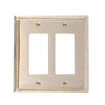 Brass Accents M06-S8570-605 Georgian Double GFCI Switch Plate