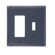Brass Accents M06-S8571-613VB Georgian Double-Single Switch and Single GFCI