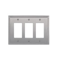 Brass Accents M06-S8590-619 Georgian Triple GFCI Switch Plate
