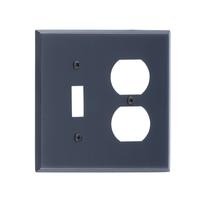 Brass Accents M07-S4540-613VB Quaker -Single Switch and Single Outlet Plate