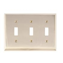 Brass Accents M07-S4550-605 Quaker Triple Switch Plate