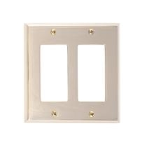 Brass Accents M07-S4570-605 Quaker Double GFCI Switch Plate