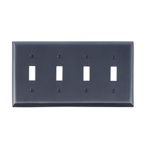 Brass Accents M07-S4591-613VB Quaker Quad Switch Plate