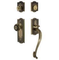 Nostalgic Warehouse Meadows Handleset with S Grip Antique Brass