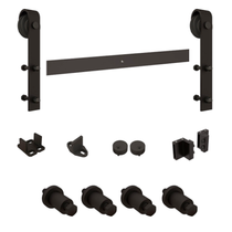 National Hardware N186-960 Decorative Interior Sliding Barn Door Hardware Kit