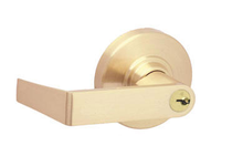 Schlage ND Series Heavy Duty Rhodes Entrance Lever (ND53PD) in satin brass