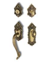 Nostalgic Warehouse Victorian Handleset w/VictorianKnob Vintage/Antique Brass