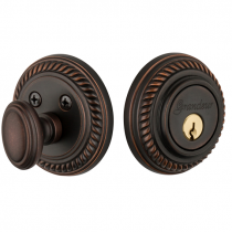 Grandeur Newport Single Cylinder Deadbolt Timeless Bronze (TB)