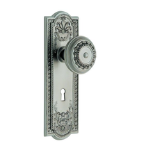 Nostalgic Warehouse Meadows Backplate with Meadows knob SN Satin Nickel