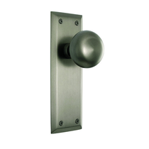 Nostalgic Warehouse New York Backplate with New York Knob Satin Nickel (SN)