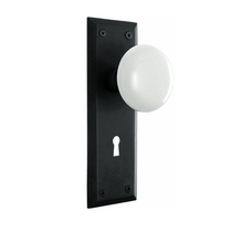 Nostalgic Warehouse New York Backplate with Porcelain knob OB Oil Rubbed Bronze