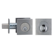 Omnia D9000S Modern Auxiliary Deadbolt Brushed Stainless Steel (US32D)