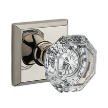 Baldwin Reserve Crystal Knob Set Polished Nickel PSCRYTSR141