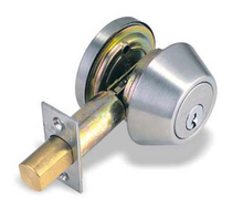 Pamex Grade 2 Commercial Single Cylinder Deadbolt in Satin Chrome (26D)