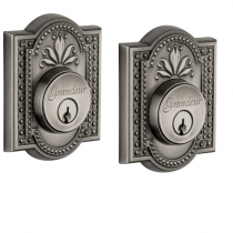 Grandeur Parthenon Double Cylinder Deadbolt Antique Pewter (AP)