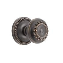 Grandeur Parthenon Knob with Newport Rose Timeless Bronze