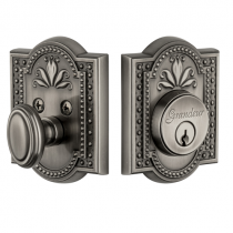 Grandeur Parthenon Single Cylinder Deadbolt Antique Pewter (AP)