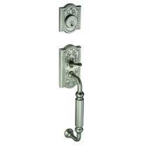 Grandeur Parthenon Handleset shown in Satin Nickel (SN)