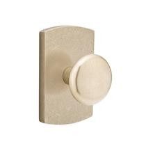 Emtek Winchester Door knob with #4 Rose Tumbled White Bronze (TWB)