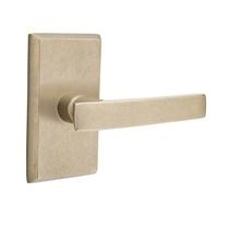 Emtek Bronze Yuma Door Lever Set with #3 Rose Tumbled White Bronze (TWB)