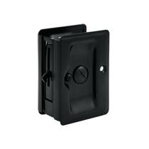 Deltana SDLA325 Heavy Duty Privacy Pocket Door Lock in Black (US19)