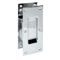 Deltana SDP60-26 Decorative Passage Pocket Door Lock Polished Chrome