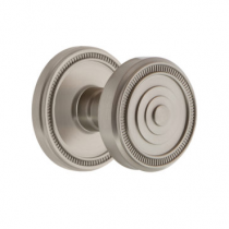 Grandeur Soleil Door Knob Set with Soleil Rose Satin Nickel