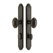 Emtek 6444 Tuscany Bronze Style Stretto Narrow Trim Keyed Sideplate,6444