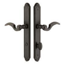 Emtek 6243 Tuscany Bronze Style Stretto Narrow Trim Non Keyed Sideplate