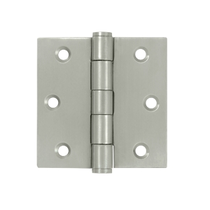 "Deltana SS33 U32D 3"" x 3"" Square Corner Stainless Steel Hinge"
