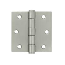 "Deltana SS35U32D-R 3-1/2"" x 3-1/2"" Square Corner Stainless Steel Hinge"